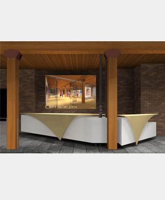 concierge desk for the river east arts center - Concierge Desk Design